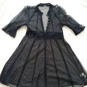 Black lace dress from Free People